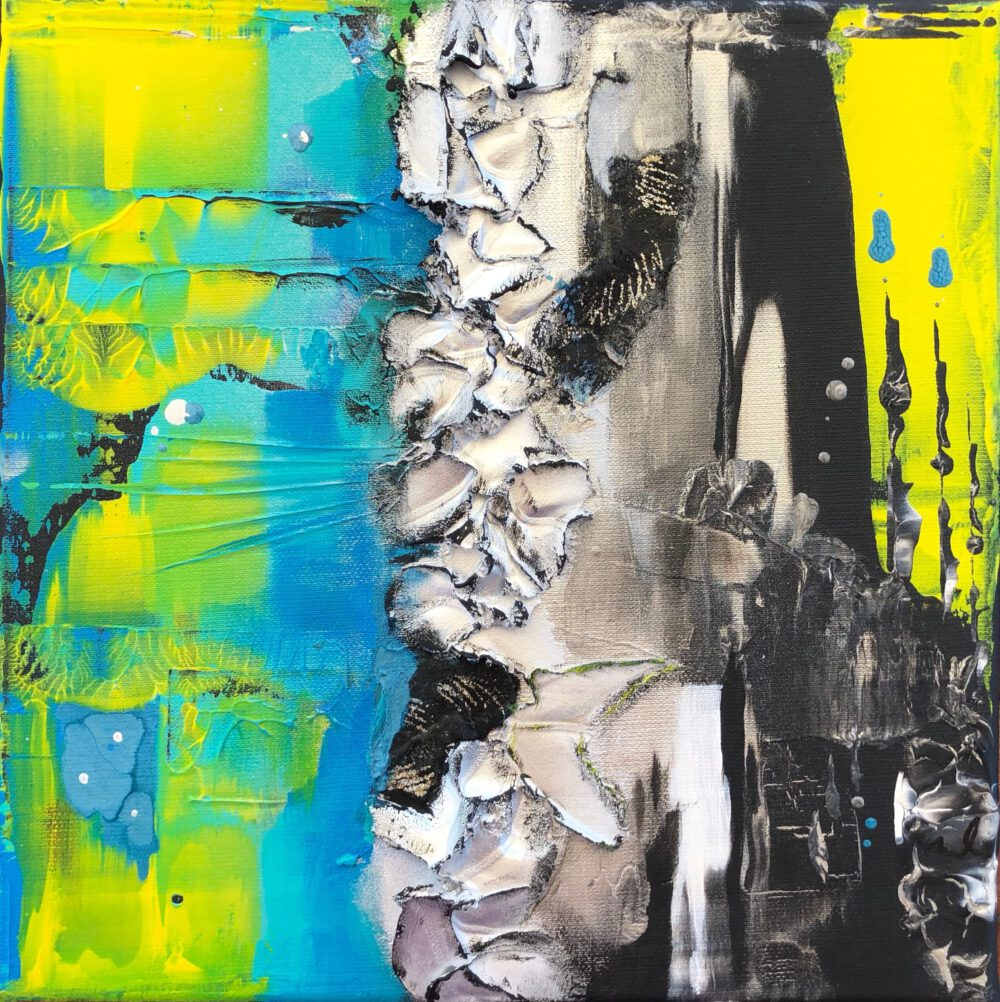 abstraktes Acrylbild auf Leinwand