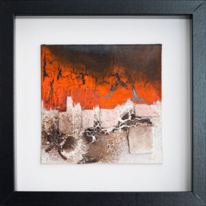 abstraktes Wandbild orange