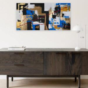 abstraktes Acrylbild Chaos in 2020 an der Wand