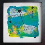 abstraktes handgemaltes Acrylbild auf Papier 36