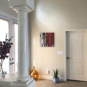 Wanddekoration abstraktes Acrylbild rot