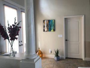 Wandbild im Raum