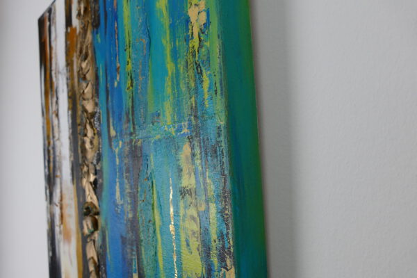 Seitenansicht Acrylbild 2 Things Blue 1