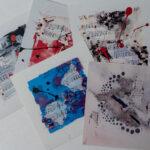 Set aus 5 Postkarten