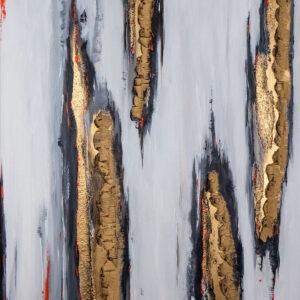 abstraktes Acrylbild Barks