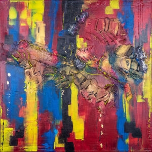 abstraktes Acrylbild Kunterbunt