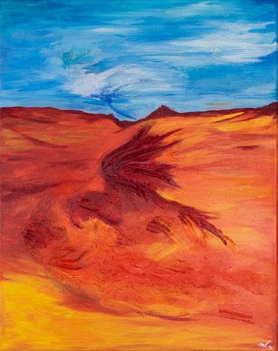 abstraktes Acrylbild die Gier
