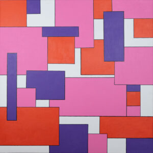 abstraktes Wandbild auf Leinwand geometrisch