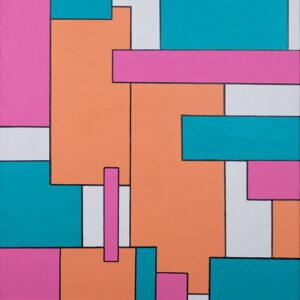 Acrylbild geometrische Formen 3