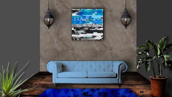 Produktbild 2 Things Blue 2 an Wand hängend