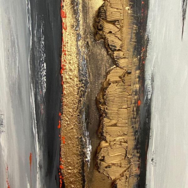 Detailansicht abstraktes Acrylbild Barks