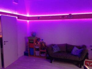 Bild von Kinderzimmer beleuchtet